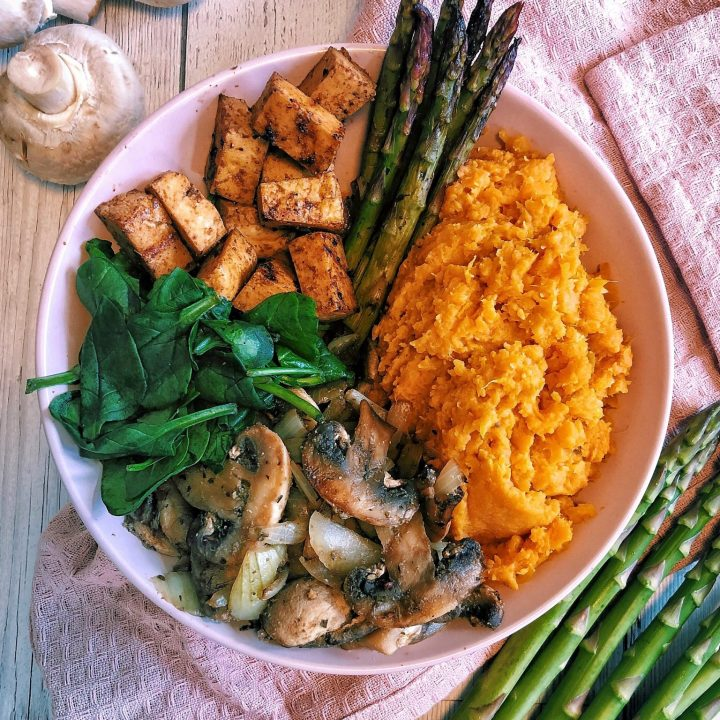 Sweet Potato Mash + Tofu Buddha Bowl