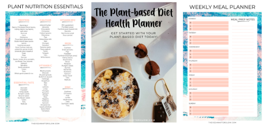Plant-based diet health planner subscribe