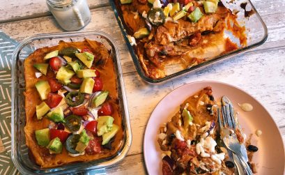 Vegan Enchiladas With Jackfruit + Black Beans (Plant-based + Oil-free)
